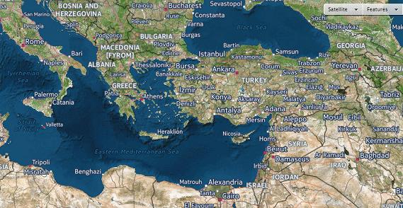 Αποτέλεσμα εικόνας για χάρτησ ανατολικήσ μεσογείου