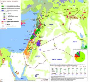Η γεωγραφική κατανομή των θρησκευτικών κοινοτήτων και τα συριο-ιρακινά σύνορα.