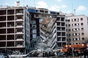 Βόμβα στην Αμερικάνικη Πρεσβεία στη Βηρυτό, 1983. Πηγή: en.wikipedia.org