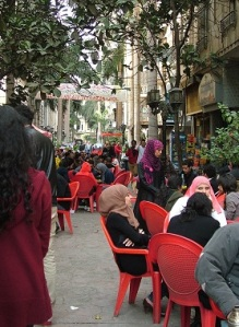 Εικόνα από πεζόδρομο του κεντρικού Καΐρου