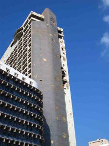 Το ξενοδοχείο Holiday Inn στη Βηρυτό, όπως ήταν ακόμα το 2011, ως συνέπεια της Μάχης των Ξενοδοχείων
