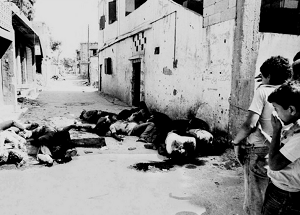 Εικόνες μετά τη σφαγή στη Σάμπρα και Σατίλα. Πηγή: www.independent.co.uk