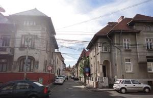 Γειτονιά του Βουκουρστίου με χαρακτηριστική αρχιτεκτονική.