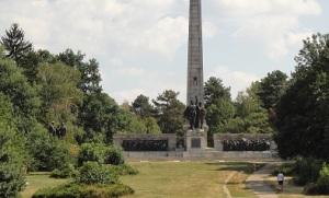 Σοσιαλιστικό μνημείο σ' ένα από τα μεγαλύτερα πάρκα της Σόφιας, τον Κήπο του Μπόρις (βασιλιάς της Βουλγαρίας στα χρόνια του μεσοπολέμου).