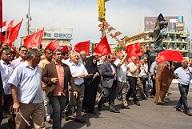 Συγκέντρωση του Κ.Κ.Ι. στη Βαγδάτη για την Πρωτομαγιά του 2014. http://www.lookleftonline.org/2014/06/on-the-edge-in-iraq/