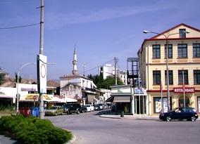 Το κέντρο της Κομοτηνής, απ' όπου αναχωρούσε το λεωφορείο για Κωνσταντινούπολη.