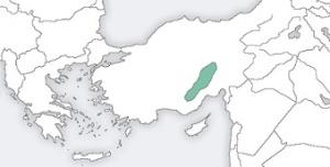 Η περιοχή που κατοικούσαν οι Καραμανλήδες. https://en.wikipedia.org/wiki/File:Karamanlides_homeland.png