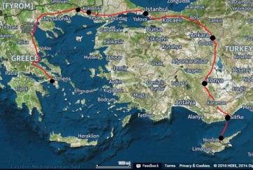Πηγή χάρτη/δορυφορικής εικόνας: here.com