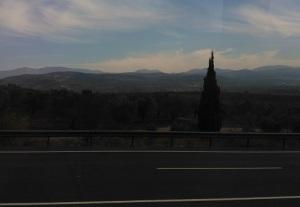 Εικόνα από το τοπίο στη διαδρομή Προύσα-Σμύρνη.