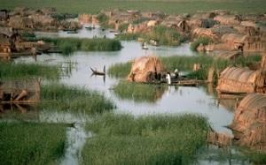 Χωριό στους ιρακινούς βάλτους το 1974. http://america.aljazeera.com/articles/2014/7/13/restoring-iraqs-lostmarshes.html