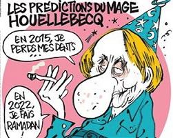 Το εξώφυλλο της Charlie Hebdo σχετικά με το βιβλίο:
