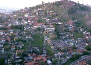 Γκετζέκοντου όπως φαίνεται βόρεια από το κάστρο της Άγκυρας (φωτογραφία: Απρίλης 2013).
