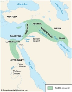 Η εύφορη ημισέληνος. https://www.britannica.com/place/Fertile-Crescent