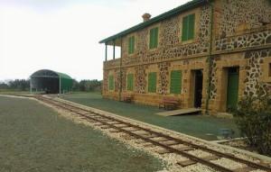 Ο πρώην σταθμός της Ευρύχου, τερματικός σταθμός της γραμμής και νυν Μουσείο Κυπριακού Σιδηρόδρομου.